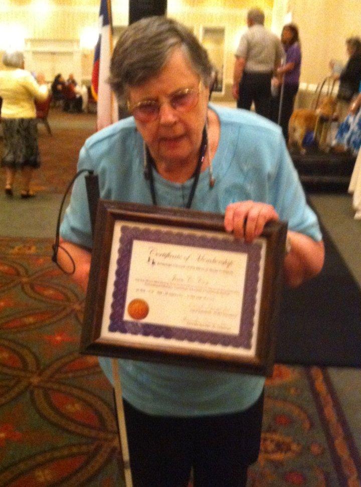 Joan Cox from San Angelo